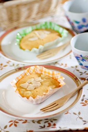 クリームチーズとバナナのカップケーキ